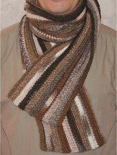 Ravelry: Easy men scarf pattern by Sophie GELFI Designs Crochet Mens Scarf, Crochet Scarves, Crochet Yarn, Crochet Clothes, Mode Crochet, Crochet Gratis, Men Scarf, Crochet Cross, Crochet For Boys