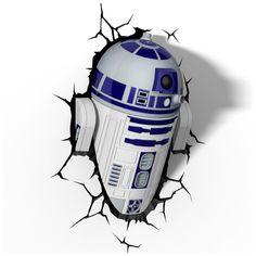 R2-D2 Wall LIght star wars http://wallartkids.com/star-wars-themed-bedroom-ideas