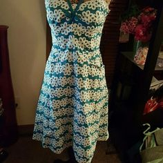 NWOT Betsey Johnson  size 8, fitted, flowey  lower Double layer dress, never worn. Very cute. Betsey Johnson Dresses Midi