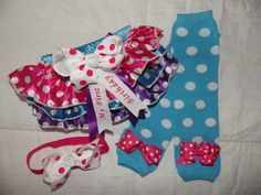 First Birthday Bloomers Leg Warmers Headband. by BabySpeakBoutique, $26.95