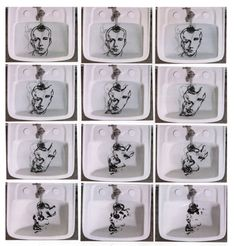 Oscar Muñoz, Narciso [Narcisse], 2001. Vidéo 4/3, couleur, son, 3 minutes. Courtesy de l'artiste