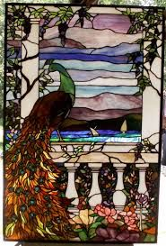 Image result for peacock in stained glass