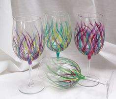 Image result for painted wine glasses