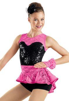 High-Low Lace Skirt Biketard -Weissman Costumes