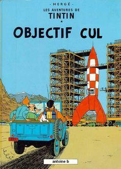 classé dans Objectif Lune & On a marché sur la lune.      Top 13 des albums de Tintin parodiés façon cul