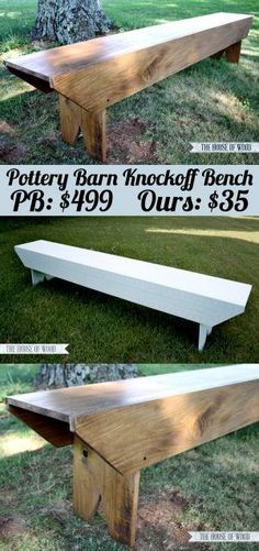 Pottery Barn Knockoff Bench