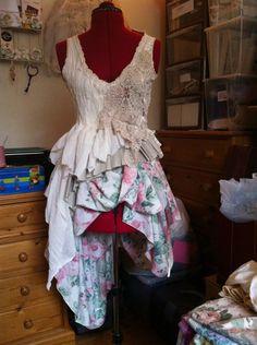 Secret Garden altered scrap dress - CLOTHING