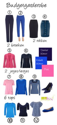 12 pieces to 21 outfits - good pieces, colour combo B&W plus Blue, no pink, plese - 4 and 12 not my style Capsule Outfits, Capsule Wardrobe, Wardrobe Ideas, Modest Fashion, Fashion Outfits, Womens Fashion, Clothing Hacks, Colourful Outfits, Fashion Advice