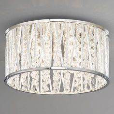 BuyJohn Lewis Emilia Crystal Drum Flush Ceiling Light Online at johnlewis.com