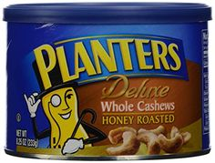 Planters Cashews Honey Roasted Whole, 8.25 oz