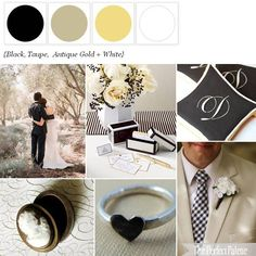 The Perfect Palette: {Pretty Patterns}: A Palette of Black, Taupe, Antique Gold + White