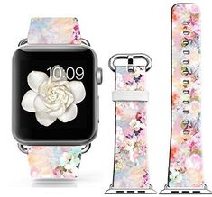 PINK-FLOWER-BOUQUET-Wristband-Band-Strap-Accessories-For-iWatch-42MM-APPLE-WATCH Pink Flower Bouquet, Pink Flowers, Apple Watch Accessories, Cell Phone Accessories, Cool Electronics, Consumer Electronics, Apple Inc, Electronic Devices, Apple Watch Bands