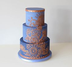 Something like this with copper over navy but lace/gears instead of Henan and some blush flowers