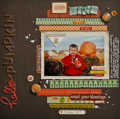 NoelMignon.com Layouts and Projects: My lil' pumpkin...by Diane Payne