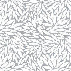 New-100/% Cotton Fabric-Grey//White//Yellow Dahlia Grey by Emma /& Mila-FQ to Yard