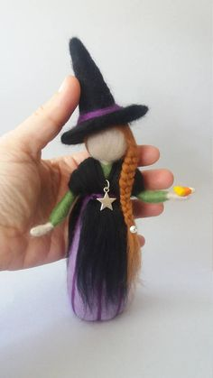 Needle felted Waldor inspired witch doll. Pagan
