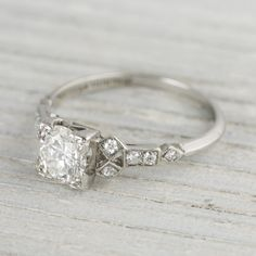 1 Carat Vintage Art Deco Engagement Ring | Erstwhile Jewelry Co.