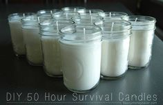 Make Your Own 50 Hour Soy Emergency Candles | DIY Cozy Home