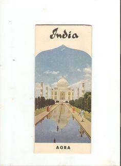 Vintage Original India 1962 Agra Color Pictures Brochure