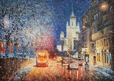 Заискрился снежный город Москва, Покровский бульвар