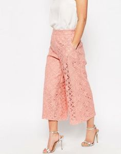 Shop ASOS PETITE OCCASION Premium Lace Culotte at ASOS. Asos Online Shopping, Online Shopping Clothes, Latest Fashion Clothes, Fashion Online, Asos Petite, Rock, Latest Trends, Midi Skirt, Women Wear