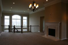 DH Custom Homes- custom Durham at Summit at Barat Haven, atrium and staircase