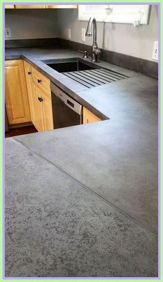 33 Amazing and Stylist Kitchen Decor Countertops Ideas on Budget - Interesting use of seams in this medium grey concrete countertop - Beton Design, Küchen Design, Layout Design, Design Ideas, Creative Design, Cafe Design, Creative Ideas, Modern Design, Outdoor Kitchen Design