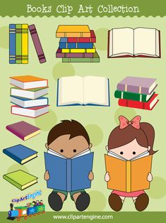 Our Books Clip Art Collection is a set of royalty free vector graphics that includes a personal and commercial use license.