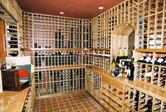 Custom Designed Wine Cellars by Patrick Wallen- Custom Designed Wine Cellars by Patrick Wallen Artistic Wine Cellars: Opulent and Over the Top Custom Design by Patrick Wallen [Interview] - Spiral Wine Cellar, Wooden Shelving Units, Wine Cellar Design, Small Tiles, Wine Glass Holder, Wine Case, Wine Cellars, Interior Design Inspiration, Custom Design