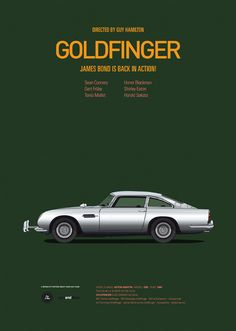 Goldfinger car movie poster, art print Cars And Films, home decor prints, car print, James Bond 007 Famous Movie Cars, Iconic Movies, Popular Movies, Cult Movies, Poster Series, Movie Poster Art, Print Poster, Tv Series, Aston Martin Lagonda