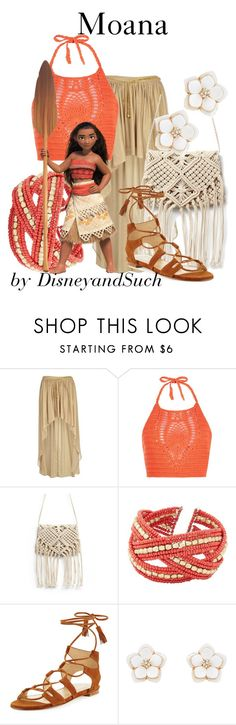"""""""Moana"""" by disneyandsuch ❤ liked on Polyvore featuring River Island, New Look, Charlotte Russe, Stuart Weitzman, Accessorize, disney, disneybound, moana and WhereIsMySuperSuit"""