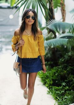 Mini skirt outfits / Stylizacje ze spódniczką mini #miniskirt #outfits #mini #spódniczka #Skirt #blogger #fashion #carmenblouse