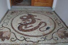 Mosaico - Piso Em Mosaico Para O Hall De Entrada Dragão Chinês