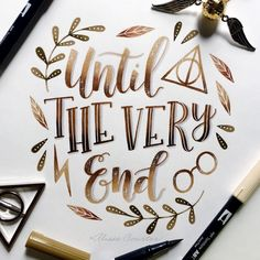"2,362 Likes, 50 Comments - Alisse Courter (@alissecourter) on Instagram: ""Until the very end. It's the last day of #hplettering with @calligraphynerd and @amandakammarada …"""