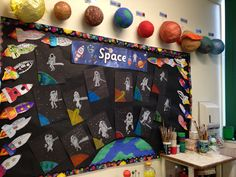 Space topic Kids Work, Art For Kids, Neil Armstrong For Kids, Classroom Displays, Classroom Ideas, Spring Term, Space Theme, To Infinity And Beyond, Play Ideas