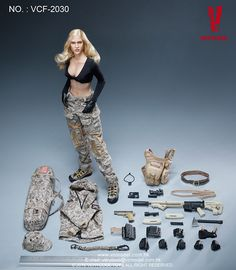 Digital Camouflage Women Soldier - Max by Very Cool Toys - Available at Legends Toys and Hobbies for $135.00