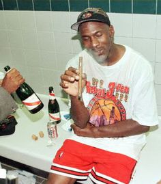 Michael Jordan after his last NBA game