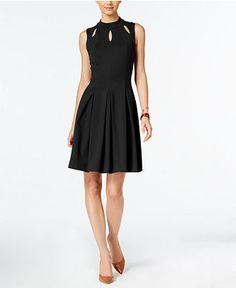Alfani Mock-Neck A-Line Dress, Only at Macy's - Alfani - Women - Macy's