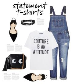 """""""Say What: Statement T-Shirts"""" by bliznec ❤ liked on Polyvore featuring City Chic, Moschino, Paul Andrew, Anya Hindmarch, polyvoreeditorial, polyvorecontest and statementtshirt"""