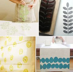 How to stamp your own sheets - maybe a good idea for kitchen wall?