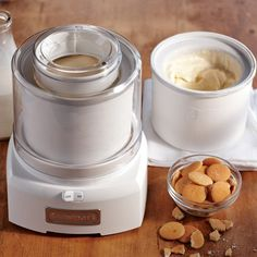 The Cuisinart Ice Cream Maker with Extra Freezer Bowl on Williams-Sonoma.com - on sale for $70.. reg 130.