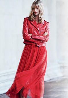 O Vermelho Fica Poderoso em Looks Compostos por Matérias Nobres e Contrastantes  Fragmentos de Moda