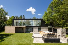 Located in Dubrobin, Ontario, Canada on the shores of Ottawa River, project architect Samantha Schneider of Christopher Simmonds Architect Inc. designed this riverside home to follow the firm's belief...