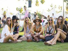 Alessandra Ambrosio's crew had one accessory in common: round | All the Coachella Street Style You Have to See | POPSUGAR Fashion