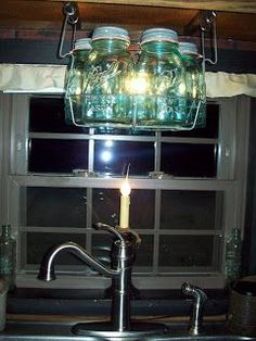 Kitchen light! Very cute..goes great with barnwood cabinets | Do it  yourself | Pinterest | Kitchens, Lights and Country primitive