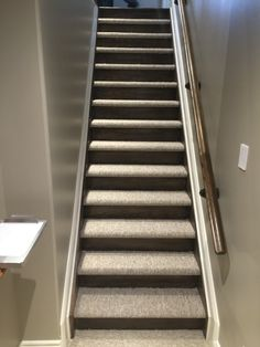 Closed Stairs, Carpet And Wood Risers