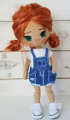Doll Amigurumi Free Pattern, Crochet Dolls Free Patterns, Crochet Doll Pattern, Baby Knitting Patterns, Amigurumi Doll, Crochet Cow, Crochet Dollies, Crochet For Kids, Crochet Animals
