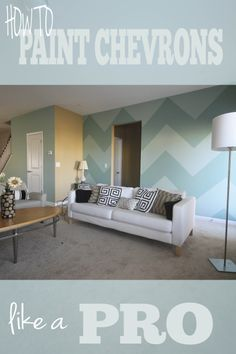 Click here to watch a video how to paint chevrons. http://www.youtube.com/watch?v=N8SQMnWWqAA Chevron pattern wall this make a great idea for boys room a girls room or family room.