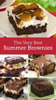 Whether you're serving on a platter for a party or indulging straight from the pan (zero judgment), these brownies are quick, easy and beyond basic. Quick Easy Desserts, Great Desserts, Delicious Desserts, Yummy Food, Brownie Recipes, Cookie Recipes, Dessert Recipes, Brownie Ideas, Brownie Desserts