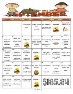 30 Delicious Meals to Cook in September with a FREE Printable Grocery List and Recipes - Mom's Bistro